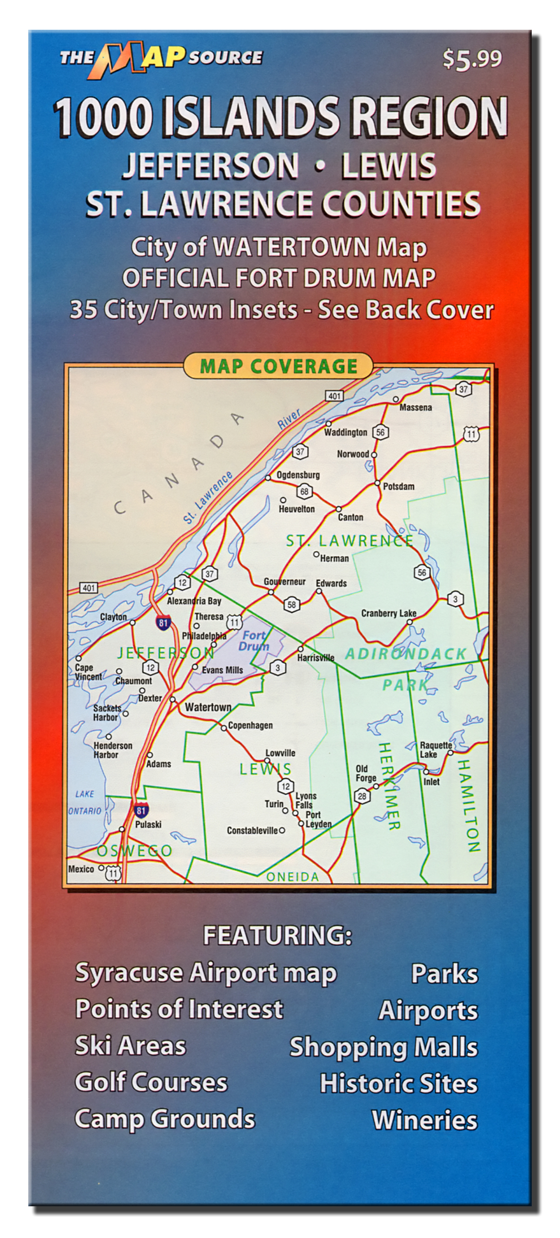 1000 Islands Region of New York State – The Map Source on