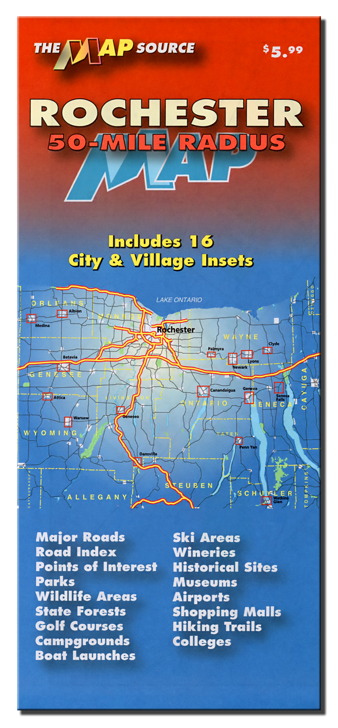 Rochester New York 50-mile radius – The Map Source on