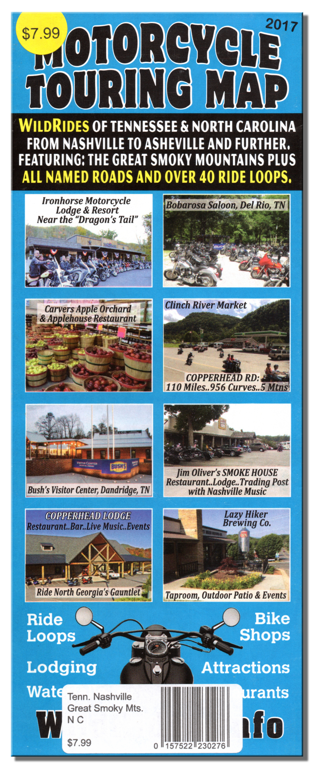 Motorcycle Touring Map Wildrides Of Tennessee North Carolina